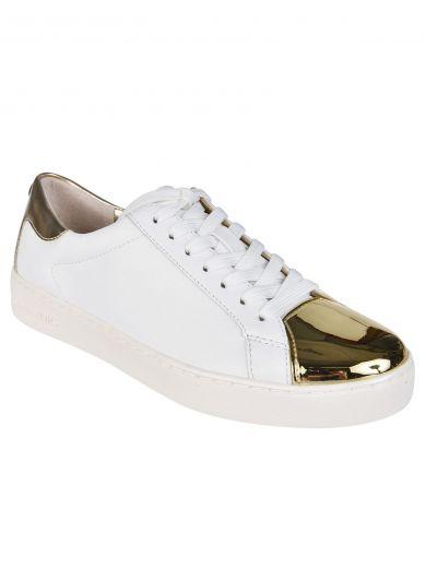 MICHAEL MICHAEL KORS Frankie Sneakers in Bianco/Oro