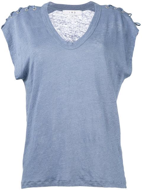 IRO Lace-Up T-Shirt