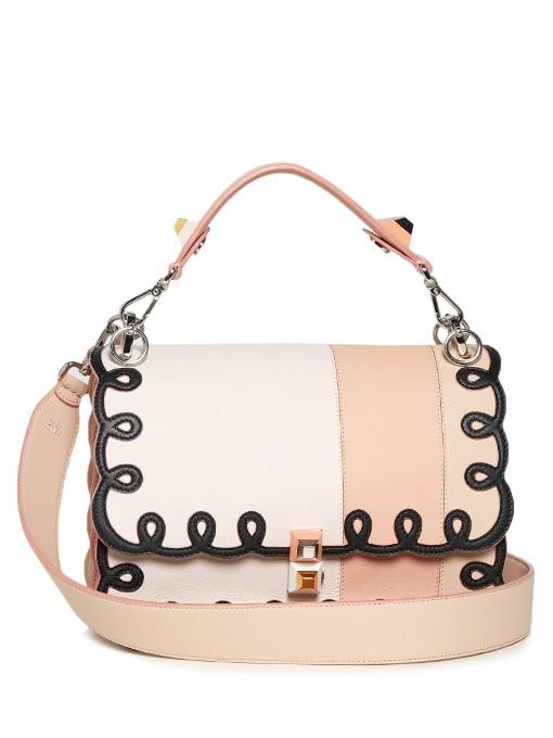 New For Sale Sale Brand New Unisex Pink Scalloped Kan I Bag Fendi Free Shipping Countdown Package Buy Cheap Genuine 2018 Unisex Online gMpGkK