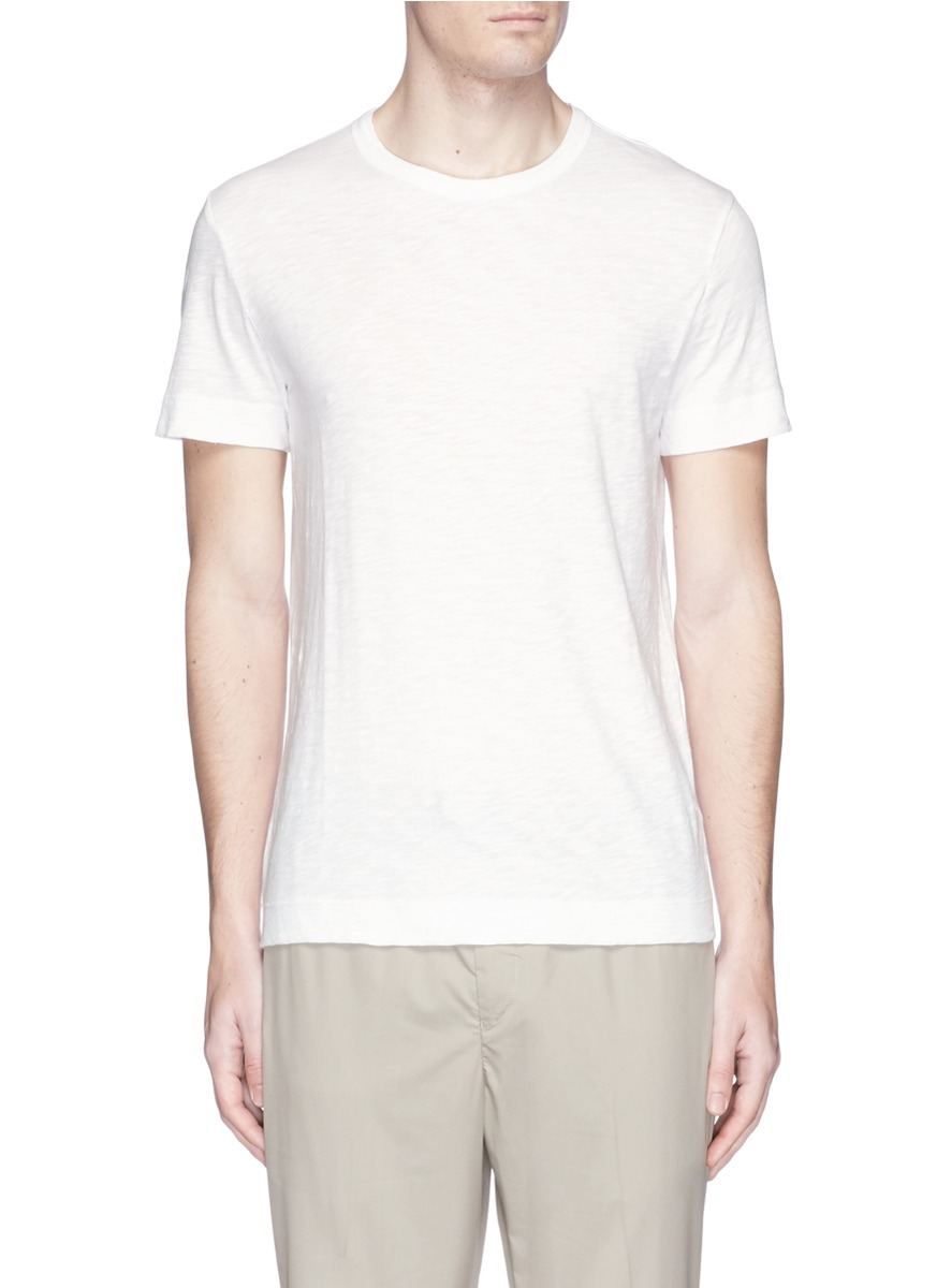 THEORY Gaskell N. Air Pique Crewneck T-Shirt, White