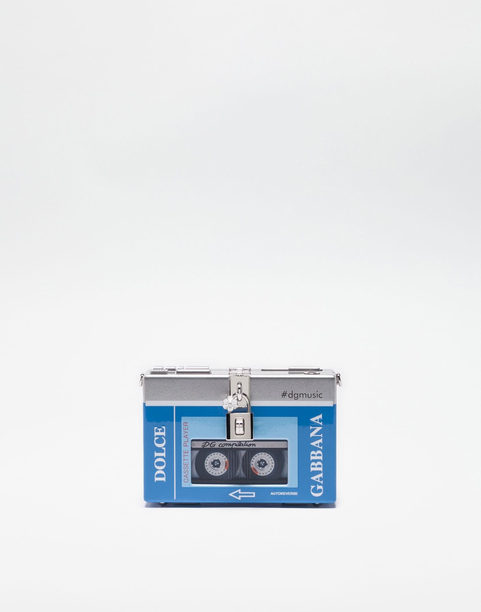 Blue & Silver Walkman Box Clutch in Multi