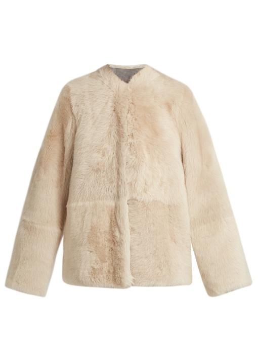 Raey - 1970S Shearling Coat - Womens - Grey