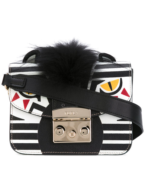 a2ae5628e2 Furla Metropolis Jungle Zebra Mini Crossbody Bag