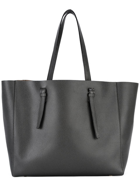 Soft Leather Tote in Black from Valextra