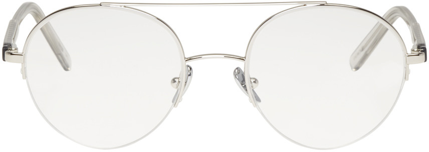9ce688f8568 Super  Numero 24  Double Bridge Round Wire Optical Glasses
