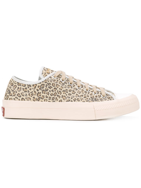 Visvim Leopard Print Sneakers - Neutrals