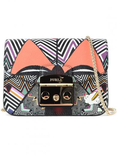 Furla Metropolis printed mini crossbody