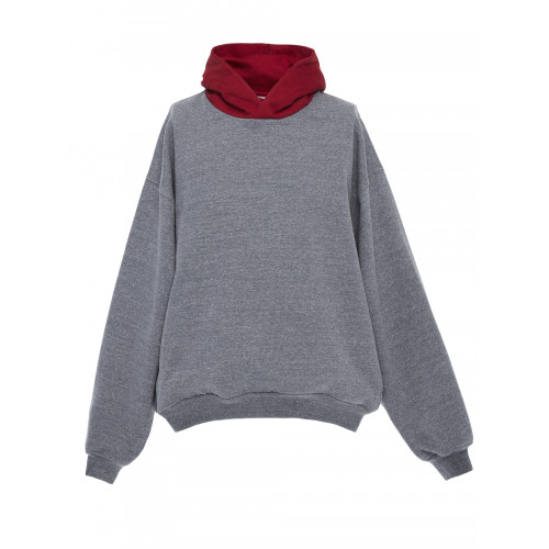 FEAR OF GOD Everyday Oversized Two-Tone Cotton-Blend Jersey Hoodie, Gray