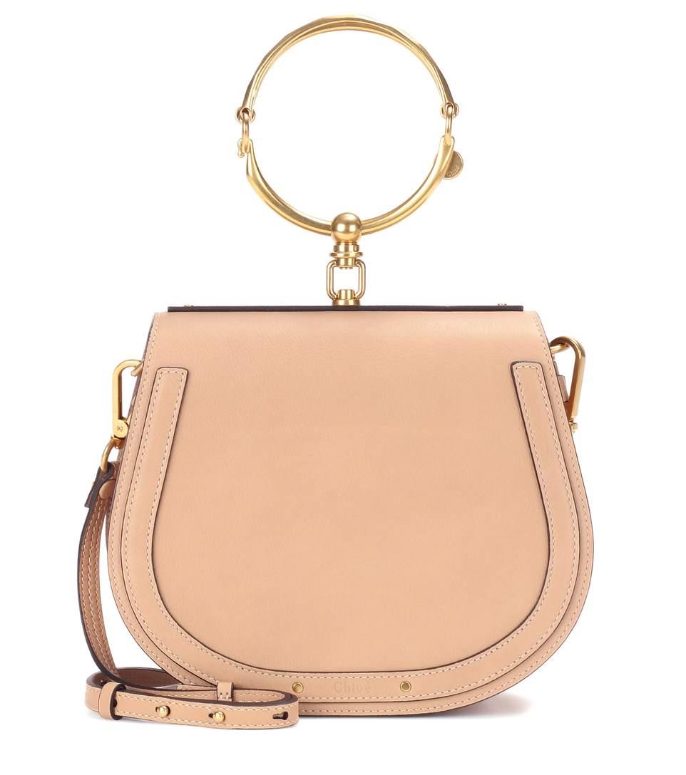 CHLOÉ Nile Medium Bracelet Crossbody Bag, Beige