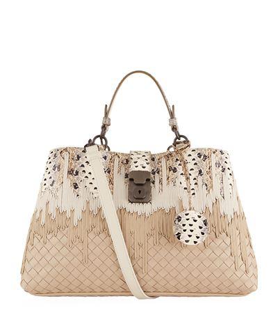 Bottega Veneta Small Milano Intrecciato Bag In Neutral   ModeSens 711077d1c9