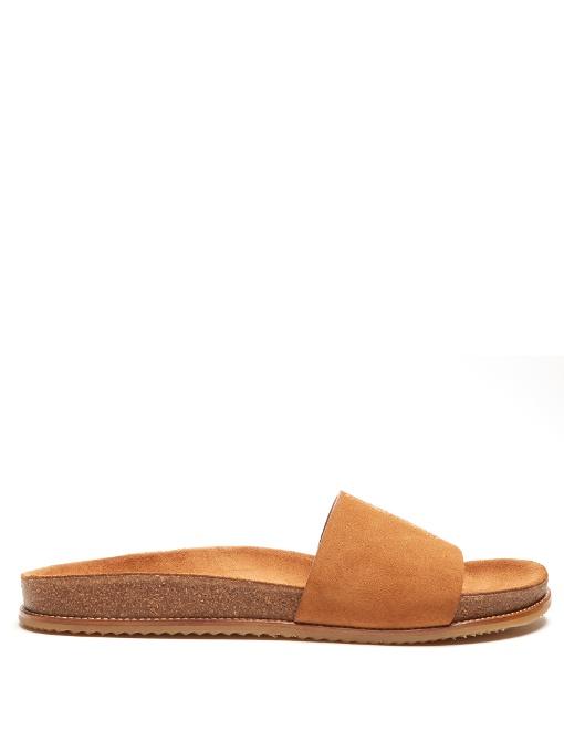 sale eastbay Saint Laurent Brown Suede Jimmy Sandals cheap excellent sale shop KSR4DHuWyC