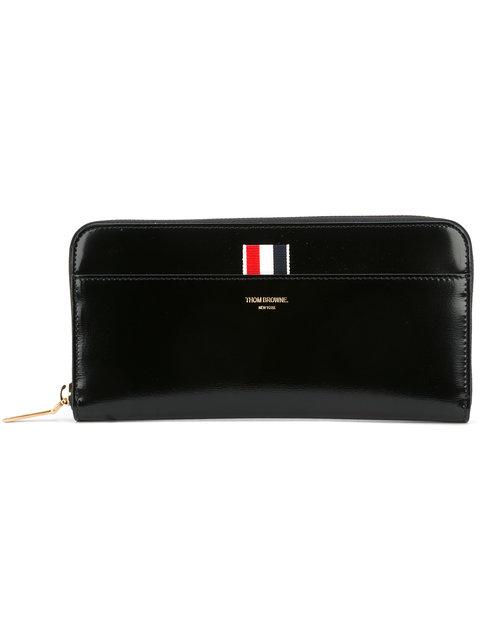 Black Long Zip Around Wallet
