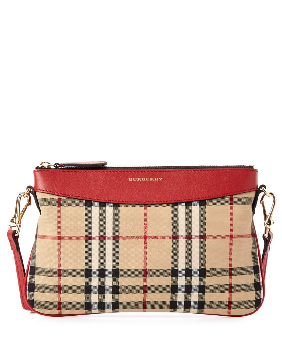 709efa4f0a87 Burberry Peyton Horseferry Check Clutch Bag In Pink