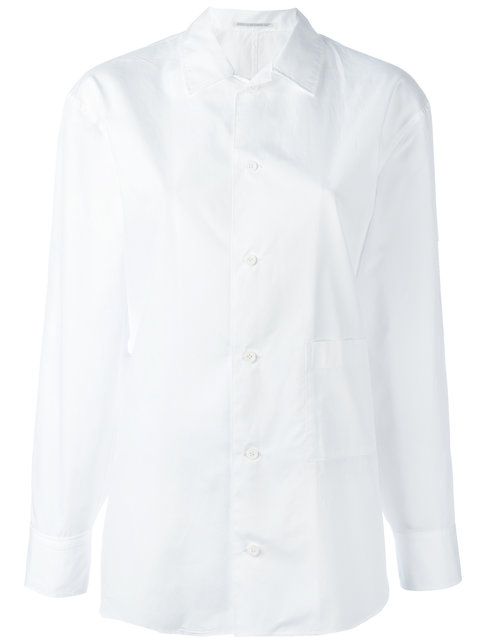 Yohji Yamamoto Pocket Detail Slim-Fit Shirt - White