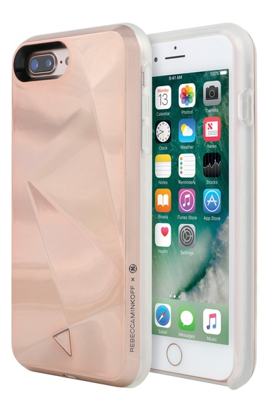 REBECCA MINKOFF GLOW SELFIE CASE FOR IPHONE 8 & IPHONE 7, ROSE GOLD