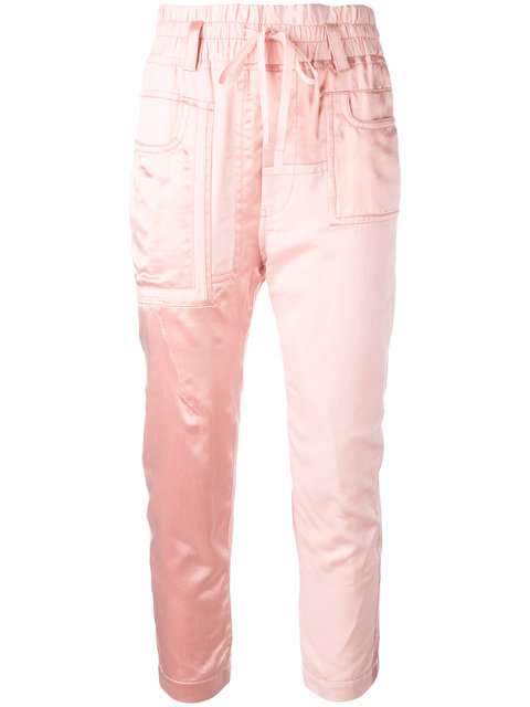 Haider Ackermann Baker Cropped Trousers - Pink, Pink & Purple