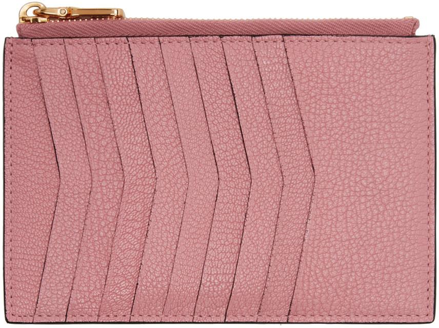 MIU MIU Pink Heart Multi Card Zip Pouch  d814bd4fe