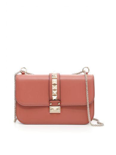 VALENTINO Medium Lock Bag in Antico|Rosa
