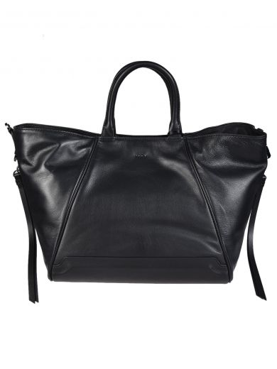 DKNY Leather Tote in Nero