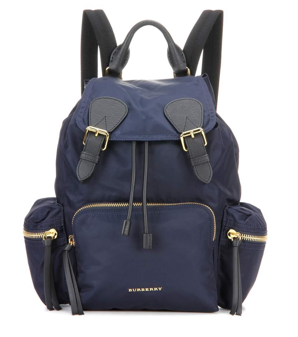 'Medium Runway Rucksack' Nylon Backpack - Blue, Ink Blue