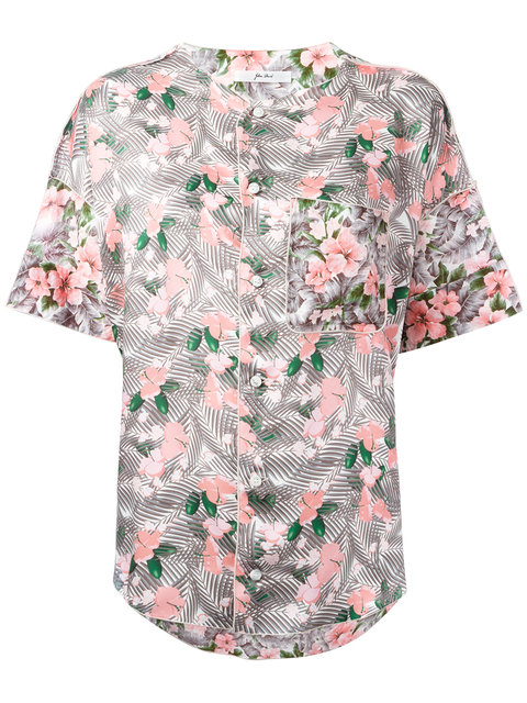 JULIEN DAVID Floral Print Shirt in Multicolour
