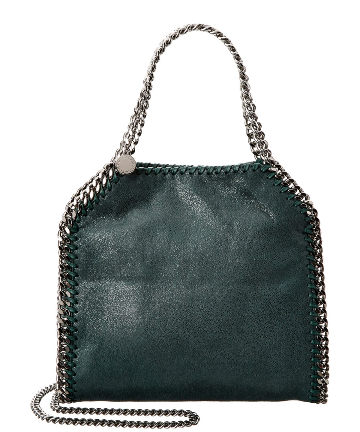 STELLA MCCARTNEY Falabella Shaggy Deer Mini Tote' in Petrol