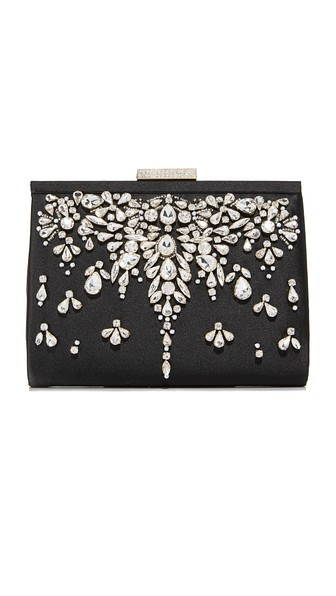 Badgley Mischka Adele Frame Clutch - Black