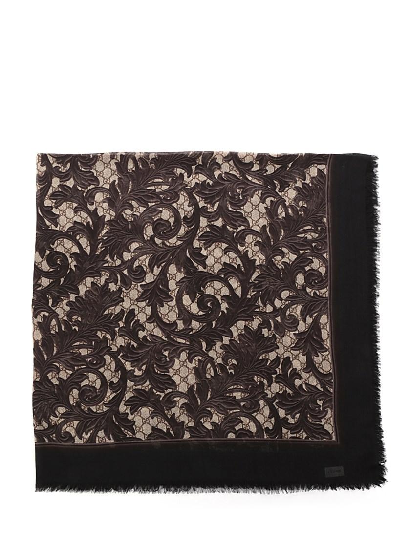 Arabesque Print Modal Silk Shawl