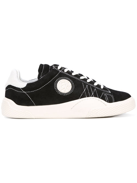 Wave Rough Low-Top Suede Trainers in Black