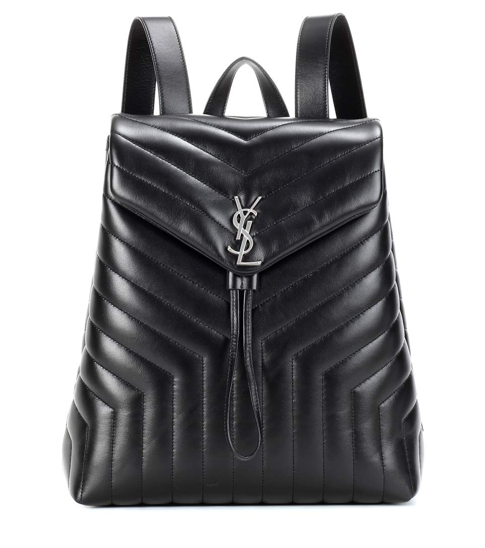 SAINT LAURENT Loulou Monogram Medium Quilted Leather Backpack, Eero