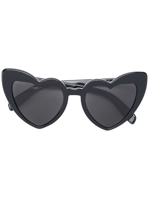 New Wave 181 Loulou Sunglasses In Shiny Black Acetate With Grey Nylon Lenses