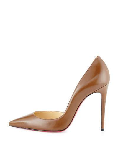CHRISTIAN LOUBOUTIN Iriza Half-D'Orsay 100Mm Red Sole Pump in Indiana