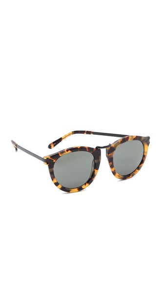 Alternative Fit Harvest Monochromatic Sunglasses, Brown Pattern, Crazy Tort/Smoke Mono