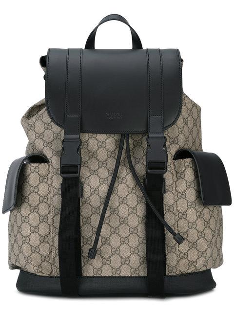 4061b0206c1edc Gucci Eden Flap Top Canvas Backpack - Beige | ModeSens