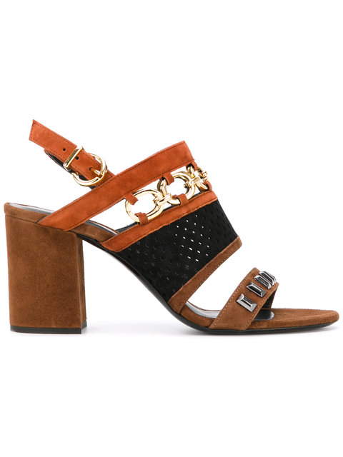 Barbara Bui Chain Detail Sandals - Brown