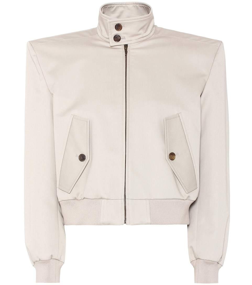 Boxy Harrington Cotton Jacket, Beige