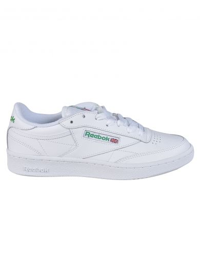 REEBOK White Leather Workout Plus Sneakers
