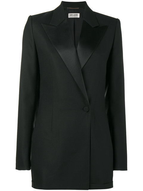 Satin-Trimmed Wool And Mohair-Blend Playsuit, Black