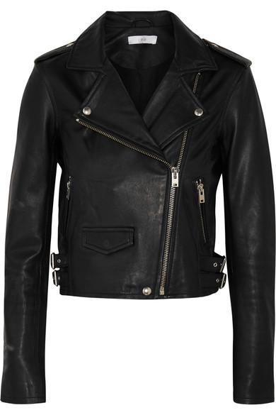 Ashville Leather Biker Jacket in Black