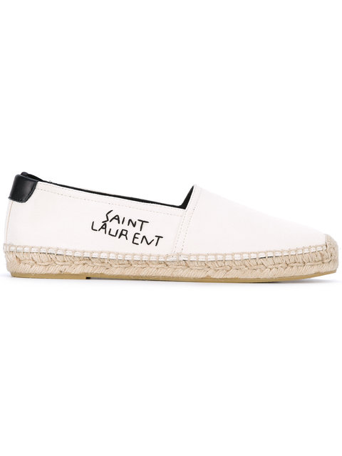 discount limited edition outlet best place Saint Laurent embroidered logo espadrilles online shop from china sale for nice UbYtidWlG
