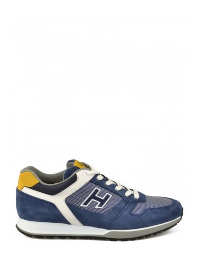 HOGAN Leather Sneakers in Blue