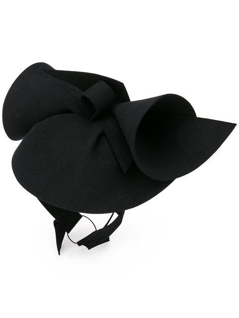 Gucci Sculpted Felt Rabbit Hat, Black