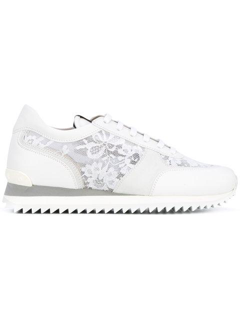 LE SILLA Le Silla Lace Panel Trainers - White