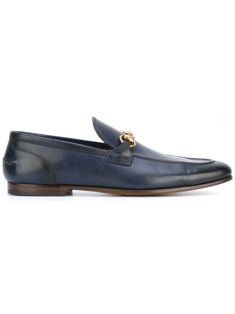 Leather Jordaan Loafers, Blue Leather