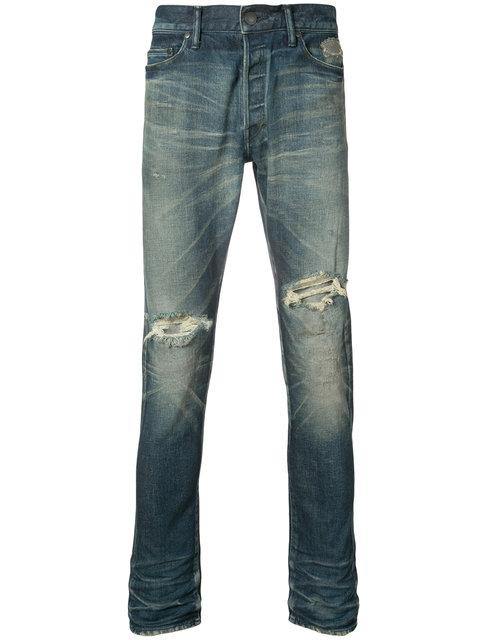 The Cast 2 Distressed Slim Jeans, Blue