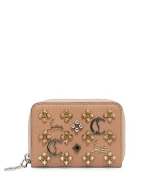 Panettone Loubisky Leather Coin Purse, Na