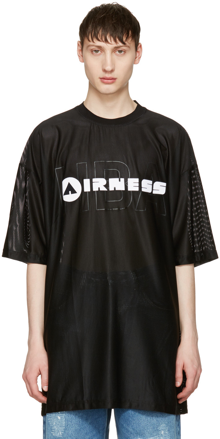 HOOD BY AIR Black 'Airness' T-Shirt