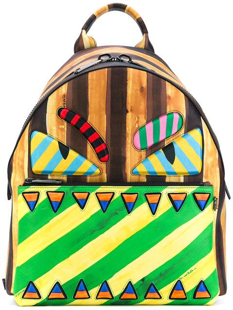 Fendi Monster Marker-Style Backpack - Multicolour