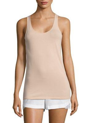 SKIN Racerback Organic Cotton Jersey Tank Top in Blossom