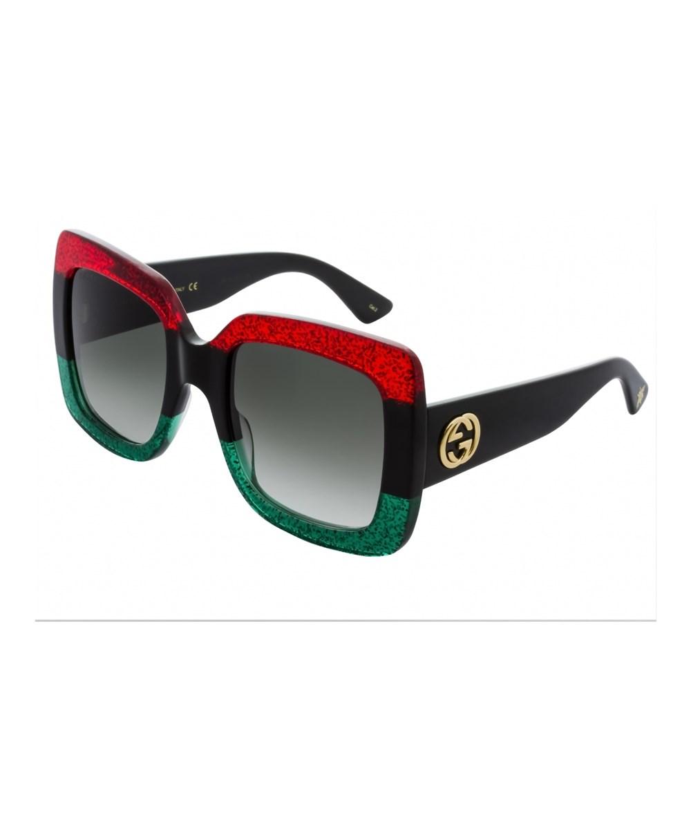 GUCCI Gg 0083S 001, Red-Black-Green Grey Gradient   ModeSens 15534e77d202